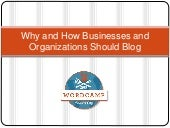 #WCKC Why and How Businesses/Organizations Should Blog