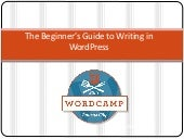 #WCKC The Beginner's Guide to Writing in WordPress