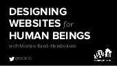 Designing Websites for Human Beings - Embracing the Importance of User Testing