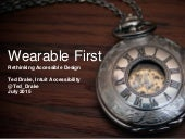 Wearable-First Design and Accessibility