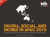 Digital, Social & Mobile in APAC in 2015
