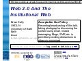 Web 2.0 And The Institutional Web