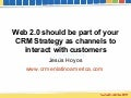 Web 2.0 should be part of your CRM