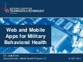 Web And Mobile Apps for Military Behavioral Health