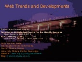 Web Developments & Trends