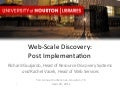 Web-Scale Discovery: Post Implementation