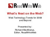 Web Technology Trends for 2008 and ...
