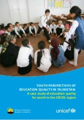 Youth perspectives of education qua...