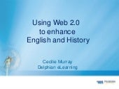 Web 2.0 to enhance English and History