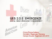 Web 2.0 social media emergency mana...