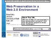 Web Preservation in a Web 2.0 Envir...