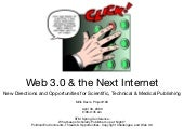 Web3 And The Next Internet - New Directions And Opportunities For STM Publishing