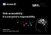 Web accessibility: it's everyone's responsibility