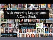 Web Archiving Legacy.com: A Case Study