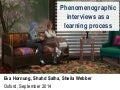 Phenomenographic interviews as a learning process