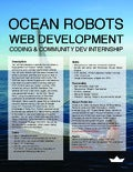 Web community internship for Ocean Robotics group