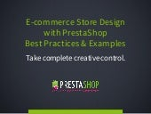 E-commerce Store Design with PrestaShop Best Practices & Examples