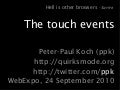 The touch events - WebExpo