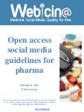 Webicina Open access social media guidelines for pharma