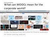 What can MOOCs mean for the corpora...
