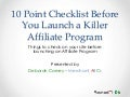 Webinar are you ready to launch an affiliate program?