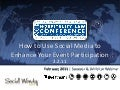 Webinar  Hospitality Law Conference 2011 Maximizing your Event Social Marketing - Presentation Snapshot - 2-2-11