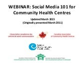 Social Media 101 for Community Heal...