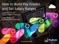 How to Build Pay Grades and Set Salary Ranges