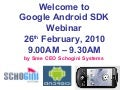 Webinar on Google Android SDK