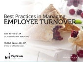 Best Practices in Managing Employee Turnover Webinar