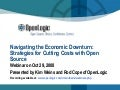 OpenLogic - Open Source Cost Savings in Economic Downturn