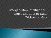 Don't Get Lost in Data Without a Map