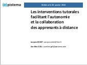 Les interventions tutorales facilit...