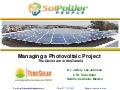 #SolarMOOC: Webinar on Project Management of Solar PV with Jeffery Lee Johnson PhD