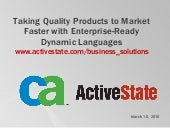 Take Quality Products to Market Fas...