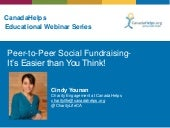 Peer-to-Peer Fundraising: It's Easier than You Think!