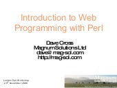 Introduction to Web Programming wit...