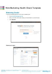Web Marketing Health Check Template...