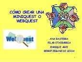 Webquest Tutorial