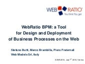 WebRatio BPM: a Tool for Designing ...