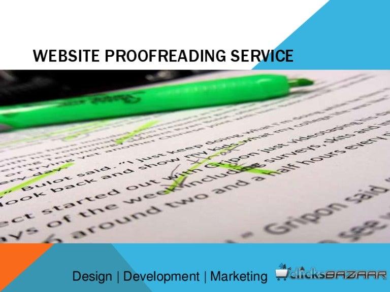 Website proofreading