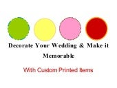 Ideas for Wedding Keepsakes and Favors