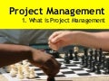 The Project Management Process -  Week 1
