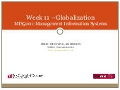 Week 11 - Globalization