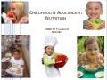 XNB151 Week 3 Child & adolescent nutrition