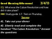 Week 29  day 1- unit 7-cuban revolu...