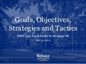 Goals, Objectives, Strategies and T...