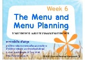 Week 6 The Menu And Menu Planning  ...