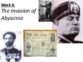 Week 7 - The Invasion of Abyssinia