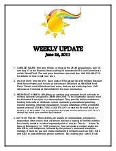 Weekly update 24 june 2011
